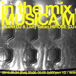 Photo: 2016.9.24(SAT) 23:00-5:00 in the mix feat. MUSICA MUNDI @ ZERO