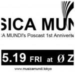 Photo: 2017.5.19(FRI) 23:00-5:00 MUSICA MUNDI – MUSICA MUNDI's Poscast 1st Anniversary – @ 0 Zero
